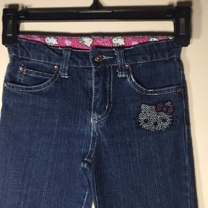 Hello Kitty Jeans Rhinestone Embellished 5